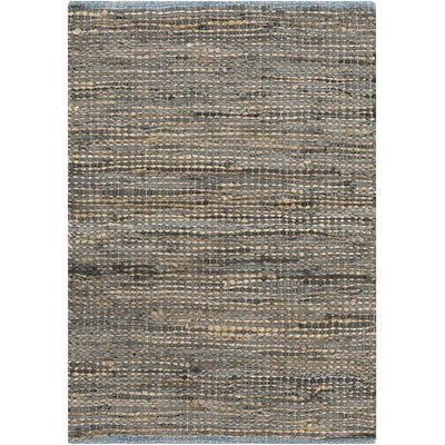 Lorna Hand-Woven Gray Area Rug Rug Size: Rectangle 36 x 56