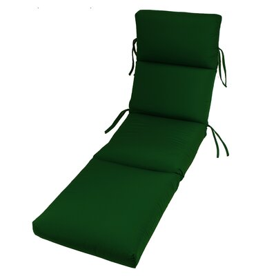 Outdoor Sunbrella Chaise Lounge Cushion Fabric: Palm