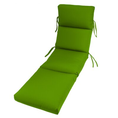 Outdoor Sunbrella Chaise Lounge Cushion Fabric: Macaw