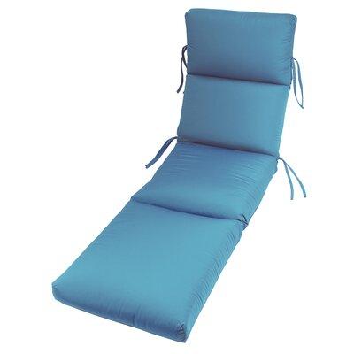 Outdoor Sunbrella Chaise Lounge Cushion Fabric: Sky Blue