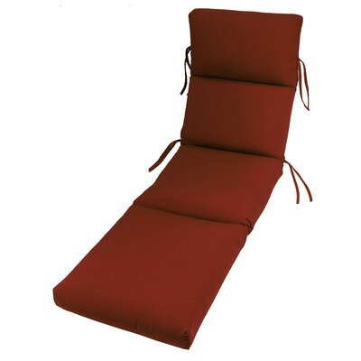 Outdoor Sunbrella Chaise Lounge Cushion Fabric: Terracotta