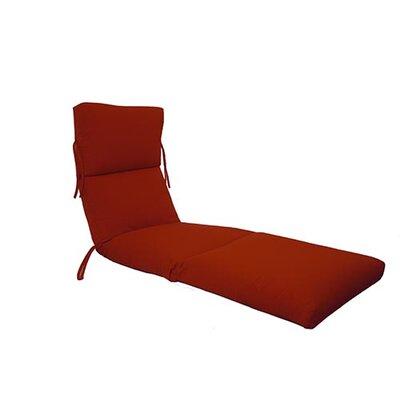 Outdoor Sunbrella Chaise Lounge Cushion Fabric: Jockey Red
