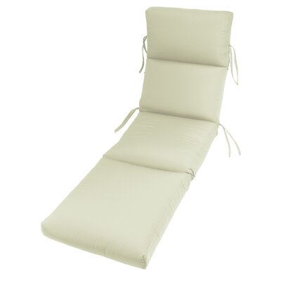 Outdoor Sunbrella Chaise Lounge Cushion Fabric: Canvas