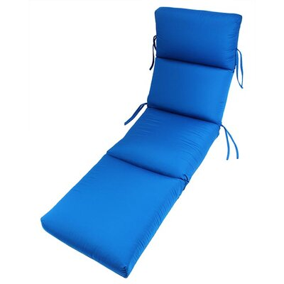 Outdoor Sunbrella Chaise Lounge Cushion Fabric: Pacific Blue