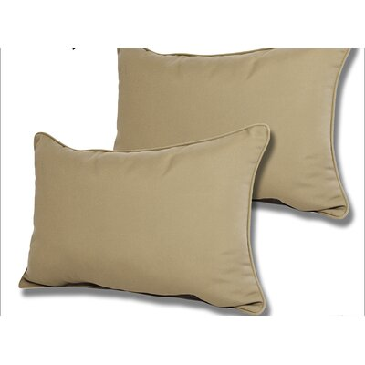 Wyckoff Reversible Outdoor Lumbar Pillow Color: Antique Beige