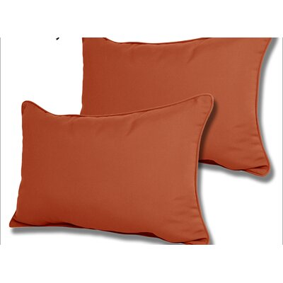 Wyckoff Reversible Outdoor Lumbar Pillow Color: Brick