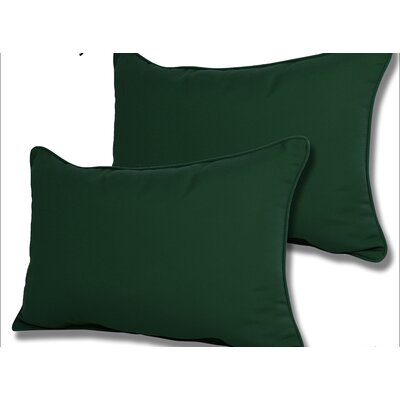 Wyckoff Reversible Outdoor Lumbar Pillow Color: Forest Green