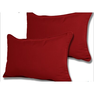 Wyckoff Reversible Outdoor Lumbar Pillow Color: Jocky Red