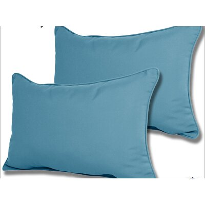 Wyckoff Reversible Outdoor Lumbar Pillow Color: Sky Blue