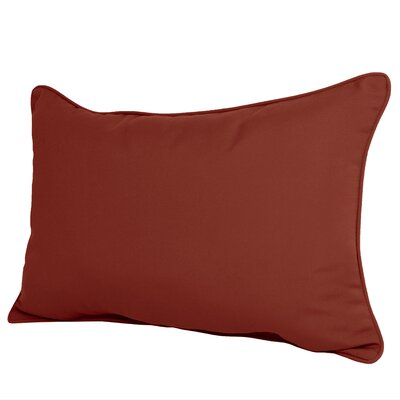 Wyckoff Reversible Outdoor Lumbar Pillow Color: Terrcotta