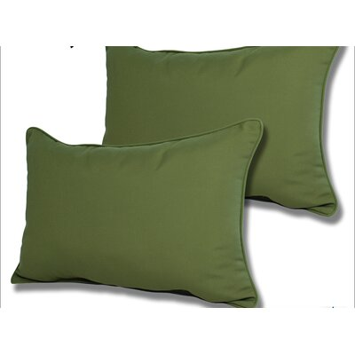 Wyckoff Reversible Outdoor Lumbar Pillow Color: Palm