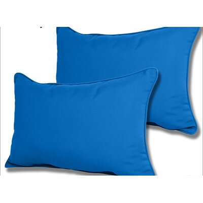 Wyckoff Reversible Outdoor Lumbar Pillow Color: Pacific Blue