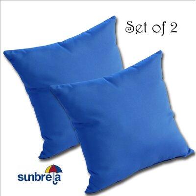 Mayson Outdoor Sunbrella Throw Pillow Color: Pacific Blue