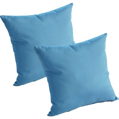 Mayson Outdoor Throw Pillow Color: Sky Blue