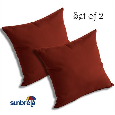 Mayson Outdoor Throw Pillow Color: Terrcotta