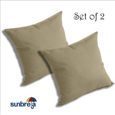 Mayson Outdoor Sunbrella Throw Pillow Color: Antique Beige