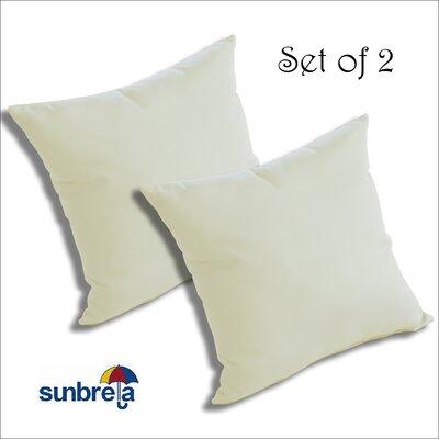 Mayson Outdoor Sunbrella Throw Pillow Color: White