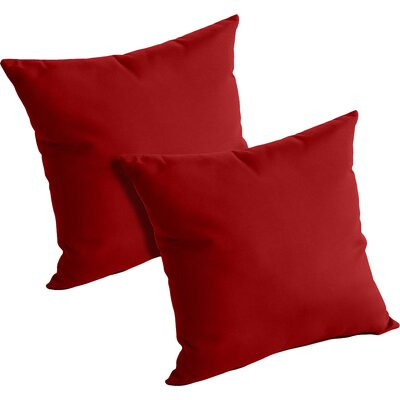 Mayson Outdoor Throw Pillow Color: Jocky Red