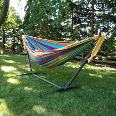 Dorinda Cotton Hammock with Stand Fabric: Tropical