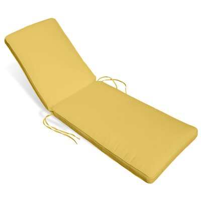 Outdoor Sunbrella Chaise Lounge Cushion Fabric: Buttercup