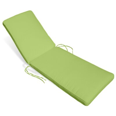 Outdoor Sunbrella Chaise Lounge Cushion Fabric: Parrot
