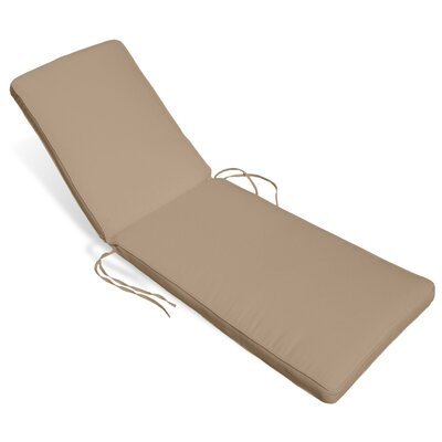 Outdoor Sunbrella Chaise Lounge Cushion Fabric: Antique Beige
