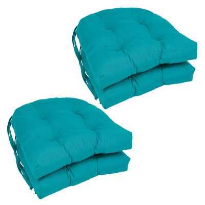 Blue Dining Chair Cushion Color: Aqua Blue