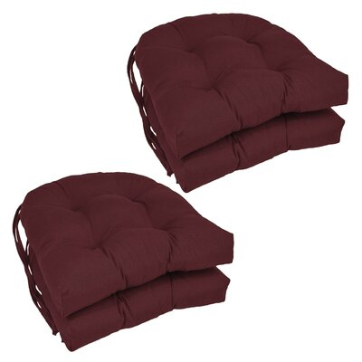 Blue Dining Chair Cushion Color: Burgundy