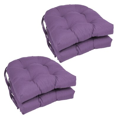 Blue Dining Chair Cushion Color: Grape