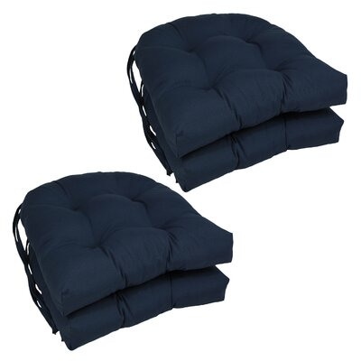 Blue Dining Chair Cushion Color: Navy