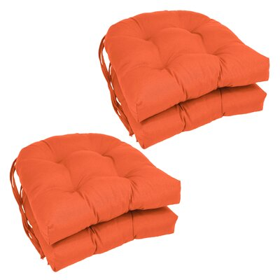 Blue Dining Chair Cushion Color: Tangerine Dream