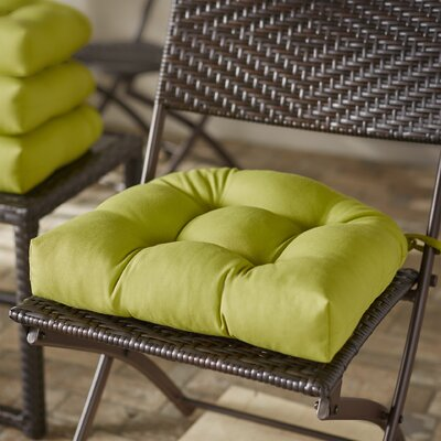 Blue Dining Chair Cushion Color: Mojito Lime