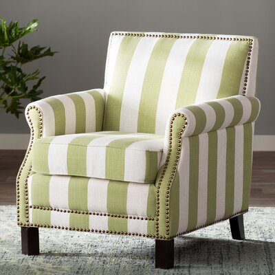 Indian Harbour Armchair Upholstery: Green/White