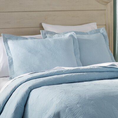 Bay Quilt Set Size: Twin, Color: Breeze Blue