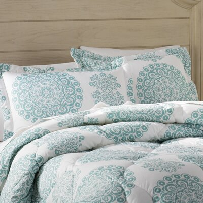Heron 4 Piece Comforter Set Size: King