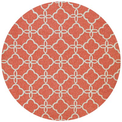 Colfax Hand-Knotted Indoor/Outdoor Area Rug Rug Size: Round 710