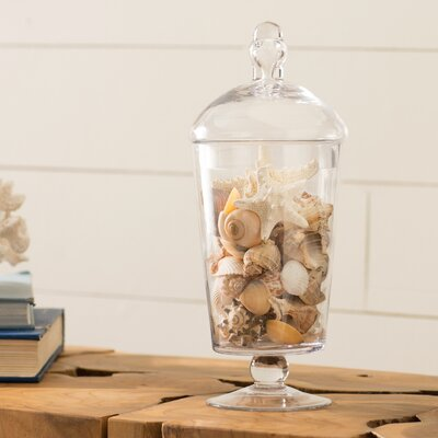 Cylindrical Handblown Glass Apothecary Jar