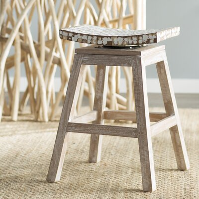 Carol City 24 Swivel Bar Stool Finish: White Wash