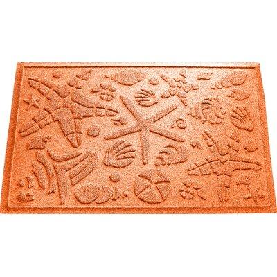 Anitra Beachcomber Doormat Color: Orange