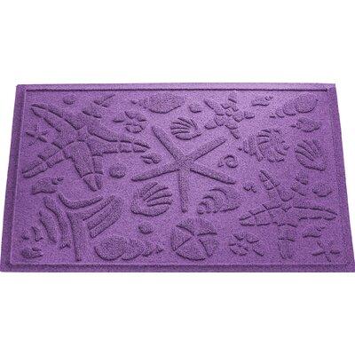 Anitra Beachcomber Doormat Color: Purple