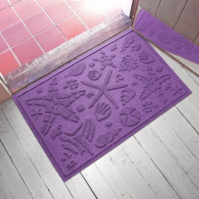 Anitra Beachcomber Doormat Color: Purple