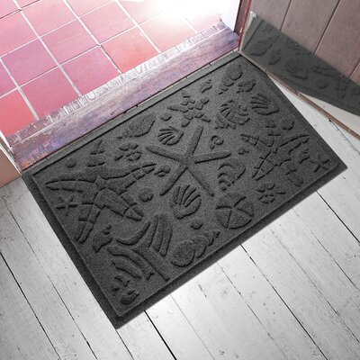 Anitra Beachcomber Doormat Color: Charcoal