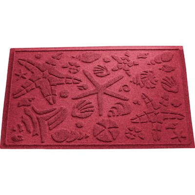 Anitra Beachcomber Doormat Color: Red/Black