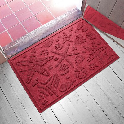 Anitra Beachcomber Doormat Color: Red/Black