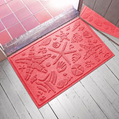 Anitra Beachcomber Doormat Color: Solid Red