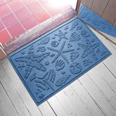 Anitra Beachcomber Doormat Color: Medium Blue