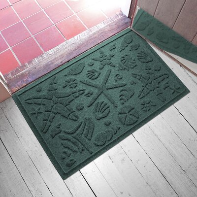 Anitra Beachcomber Doormat Color: Evergreen