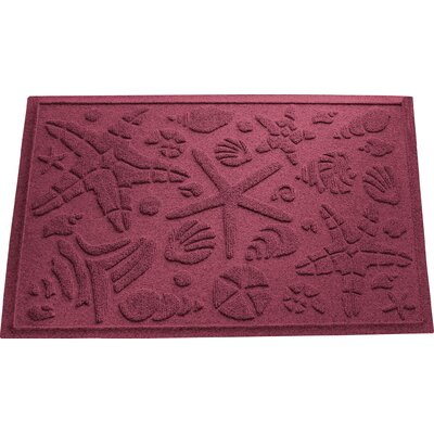 Anitra Beachcomber Doormat Color: Bordeaux