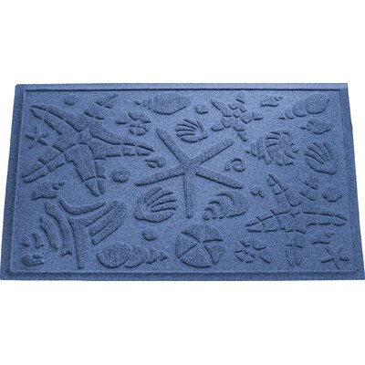 Anitra Beachcomber Doormat Color: Navy