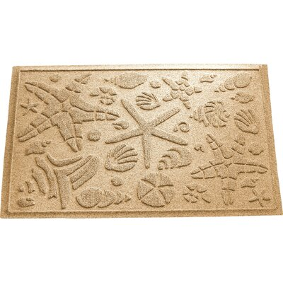 Anitra Beachcomber Doormat Color: Gold